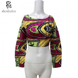 8642f7ed62953f Ankara Fabric African Print Tops , Back Mental Zipper Womens African  Clothing