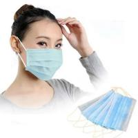 Quality Earloop Disposable Non Woven Face Mask 3 Ply Custom Printed Mask Anti Fog for sale