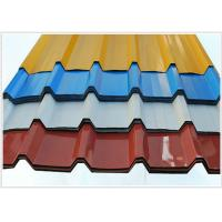 Quality 914 - 1250mm Width Corrugated Galvanized Steel Sheets / Steel Roofing Sheets for sale