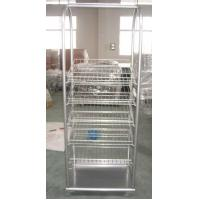 Quality Portable Retail display units Metal Display Racks with wire shelving for showing products for sale