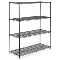 "Quality Black Office Storage Display Rack Freestanding Organizer Metal Shelving 36""W X 14""D for sale"