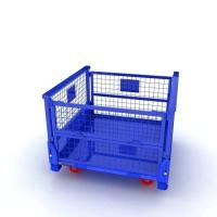 Quality Industrial Metal Storage Containers Warehouse Cage Wire Mesh Container for sale