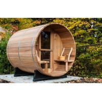 China Custom circular dry heat sauna cabins for home / garden / green roofs on sale