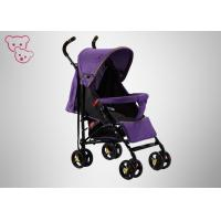 Quality Front / Rear Wheels Baby Umbrella Stroller Colorful Canopy Steel Tube 1500 Units for sale