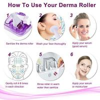 6 In1 Titanium Dr Derma Roller Scar Facial Brush Micro Needle Therapy Skin Care Kit Of Digitalpermanentmakeupmachine