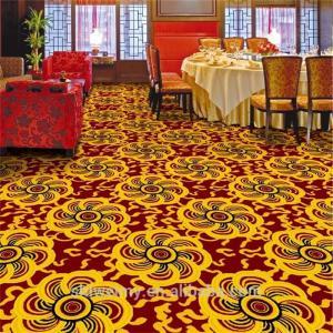 China Cheaper yellow chrysanthemum pattern restaurant polypropylene carpet on sale