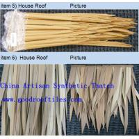 Quality PVC Artificial Palm Synthetic Thatch Roofing Tiles for sale