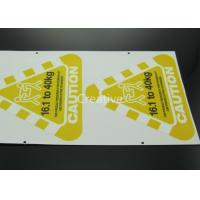 China Full Colour Printed Customized Sticker Labels Triangle Shape on sale