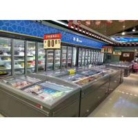 Quality Wall - Sited Supermarket Island Freezer 2.5M Long With High Visibility Glass Door for sale