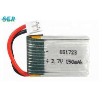 Quality Small RC Drone Battery 3.7v 150mah Lipo Cell 651723 High Rate 15C For X2 RC Quadcopter for sale
