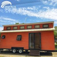 Buy cheap Wholesales Prefab mobile light steel small tiny house on wheeels from wholesalers