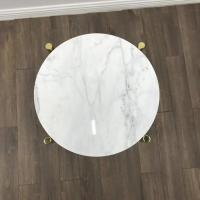 Buy cheap White Simple Marble Modern New Design Marble Top Center Coffee table tops for from wholesalers