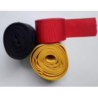 Quality 100% Polyester Textile Webbing For Hydraulic Pipes , Red Hollow Webbing for sale