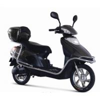 China Black / Pink motor electric scooter moped / motorized bikes multi function LED display on sale