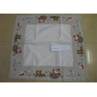 China Polyester Fabric Linen Hemstitch Tablecloth Durable For Home And Hotel on sale