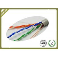Quality 305m / Roll Cat5e UTP Network Cable 4 * 2 * 0.45mm Pass Fluke Test With Real OD for sale