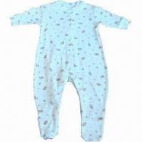 Quality Long-sleeved Baby Rompers, Made of 100% Cotton for sale