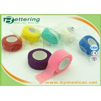 Quality Non Woven Elastic Cohesive Bandage For Finger , Self Adherent Bandage Wrap for sale