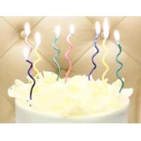 Twisted Wave Shaped Decorative Christmas Candles Special Birthday