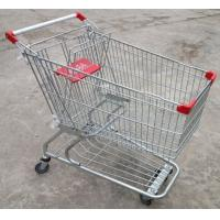 Quality Custom Grocery Shopping Trolley Wire Cart On Wheels American Style 180 Litres for sale