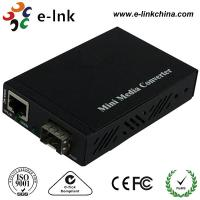Small Size Fiber Ethernet Media Converter With SFP Port , Fiber To Gigabit Ethernet Converter