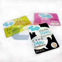 Quality Custom plastic gift scratch PVC card with pin number for sale