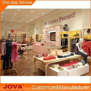China Modern shop counter design for garment store, new design MDF underwear store design, simpl on sale