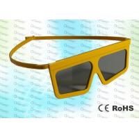 Quality Master Image,RealD Cinema Plastic Yellow Circular polarized 3D glasses for sale