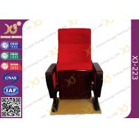 Quality Red Large Iron Leg Auditorium Theater Chairs For Conference Fire Retardant for sale
