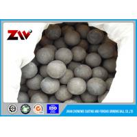 Quality Forged Steel Grinding Balls for Mining , Industrial grinding media steel balls for sale