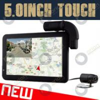 Quality HD720p 5inch car dual camera wth gps navigator Russia google maps GLONASS+GPS for sale