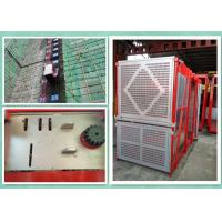 Quality Personnel And Material Construction Hoist Twin Cage , Building Hoist Overload Protection for sale