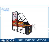 Quality crazy hoop Coin Pusher Arcade Basketball Game Machine Normal Size 100W for sale