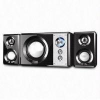 Buy cheap Black Wooden Box Speaker with Subwoofer and 220V AC at 50Hz Power Input from wholesalers