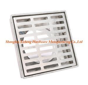 China Aluminum Metal  Square Floor Drain Cover ISO9001 Certificate Floor Drainer Strainer on sale