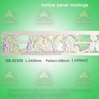 Quality Polyurethane Decorative center hollow mouldings for light transmission for sale