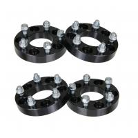 """1"""" 5x4.5 to 5x4.5 Black Wheel Spacers - fits Dodge Chrysler Toyota 12x1.5 Studs, 25mm wheel spacer"""