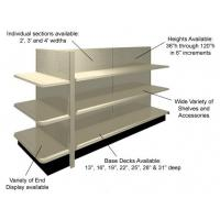 Quality Custom 0.6mm Board Double Side Convenience Store Shelf , Retail Display Racks for sale