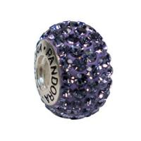 Quality Sell Screw Threaded sterling silver  Core Glass Bead with crystal for sale