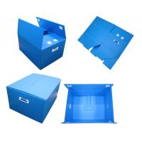 Quality Blue Non - Toxic Folding Plastic Corrugated Plastic Boxes With Thickeness 2-6mm for sale