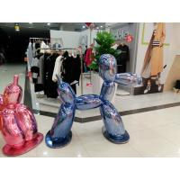 Quality metal mirror effect treatment fiberglass robert dog statue/sculpture as decoration in hotel mall supermarket for sale