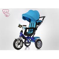 Quality Sunshade Canopy Metal 4 In 1 Baby Tricycle Bike Push And Ride Rotating Seat for sale