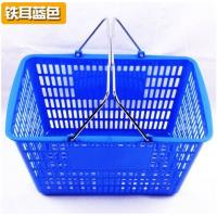Quality Blue / Red Shopping Baskets , Stacking Carry Style Retail Shopping Baskets for sale