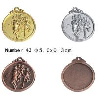 Quality 4.5cm / 5cm / 6.5cm Running medal Blank Sport Medals With Engrave press Technique for sale