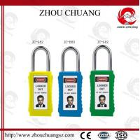 Quality Different Key System 38mm Steel Shackle PVC Tag Safety Long Body Padlock for sale