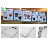 Quality Extrusion Metal Snap Frame LED Light Box Edge Lit Acrylic Sheet For Menu for sale