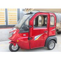 Quality 3 Seats Enclosed Electric Tricycle 1000 W Easy Operation For Adult Optional Color for sale