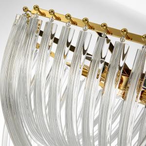 China glass chandelier pendant light Bent glass tube chandeliers pendant lights lamps modern decoration Gold Color on sale