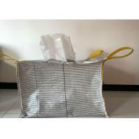 Buy Square Flat Bottom Anti Static Bulk Bags Filling Spout Top / Full Open Top at wholesale prices