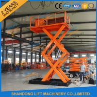 Quality 1T 5.5M Hydraulic Heavy Duty Scissor Lift Electric Home Scissor Lift Platform With CE for sale